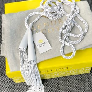 NWT Kendra Scott Phara Necklace in Matte White